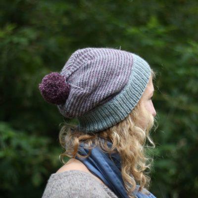 Dryžuota kepurė su kutu